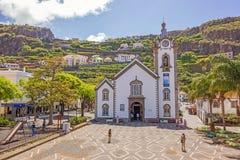 Église de village de Ribeira Brava, Madère Photographie stock