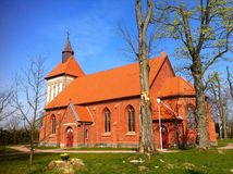 Église de village en Pologne Images libres de droits