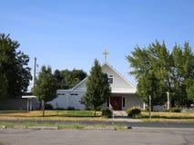 Église de ville Photographie stock