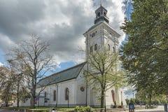 Église de ville de Varbergs Photographie stock