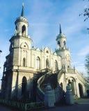 Église de Vladimir Icon de la mère de Dieu images libres de droits