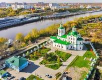 Église de Voznesensko-Georgiyevsky dans Tyumen Russie Photographie stock libre de droits