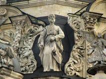 Église de Znamenskaya dans Dubrovitsy photographie stock libre de droits