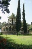 Église des béatitudes dans le proche du tabgha en Israël images libres de droits