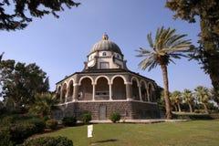 Église des béatitudes, Galilée, Israël Image libre de droits