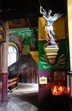 Église des Caraïbes - rue Michael défaisant Lucifer Photos stock