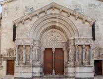 Église des Frances de St Trophime Arles Provence Photographie stock libre de droits