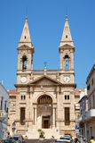 Église des solides solubles. Medici Cosma et Damiano dans Alberobello, Italie Photographie stock libre de droits