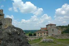 Église du 12ème siècle de Germain de Confolens de saint images libres de droits