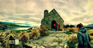 Église du bon Sheppard, île du sud, Nouvelle-Zélande Photo stock