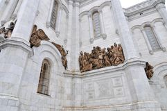 Église du Christ le sauveur - Moscou, Russie Photos stock