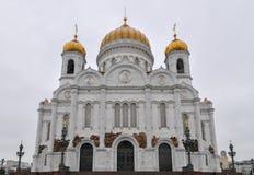 Église du Christ le sauveur - Moscou, Russie Image stock