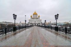 Église du Christ le sauveur - Moscou, Russie Images stock