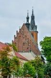Église du collégial dans Olkusz, Pologne Images libres de droits