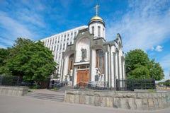 Église du graphisme de Kazan de la mère de Dieu Photo stock