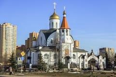 Église du graphisme de Kazan de la mère de Dieu Reutov, région de Moscou Photo stock