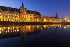 Église du ` s d'université et de St Elisabeth de Wroclaw photographie stock libre de droits