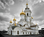 Église du ` s de prince Vladimir dans la ville d'Irkoutsk Photographie stock