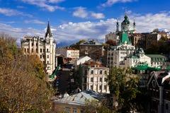 Église du `s de rue Andrew, Kiev, Ukraine Image libre de droits