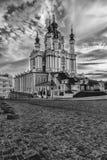 Église du ` s de St Andrew dans Kyiv, Ukraine Beau jour d'été images stock