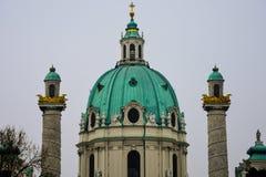 Église du ` s de St Charles de dôme de Karlskirche Image stock