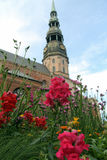 Église du ` s de St Peter, Riga, heure d'été Photo stock