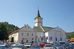 Église du Saint-Esprit, Pozega, Croatie Images stock