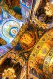 Église du sauveur sur la décoration intérieure de sang Spilled à St Petersburg, Russie Image stock