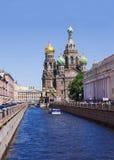 Église du sauveur sur le sang renversé à St Petersburg, Russie Images libres de droits