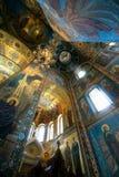 Église du sauveur sur le sang renversé, intérieure Photo libre de droits