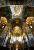 Église du sauveur sur le sang renversé, intérieure Image libre de droits