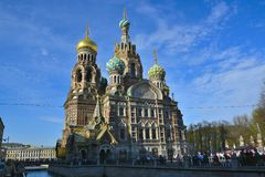 Église du sauveur sur le sang renversé, Moscou Photographie stock
