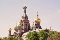 Église du sauveur sur le sang renversé ou cathédrale de la résurrection du Christ St Petersburg, Russie Photo libre de droits