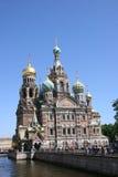 Église du sauveur sur le sang renversé, St Petersburg Image stock