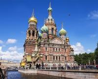 Église du sauveur sur le sang renversé, St Petersburg, Russie Images libres de droits