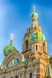 Église du sauveur sur le sang renversé, St Petersburg, Russie Photos stock