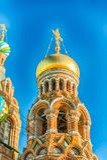 Église du sauveur sur le sang renversé, St Petersburg, Russie Images stock