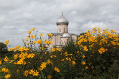 Église du sauveur sur Nereditsa Images stock