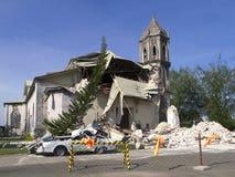 Église effondrée images stock