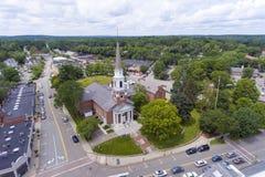Église en assemblée de Wellesley, le Massachusetts, Etats-Unis image stock