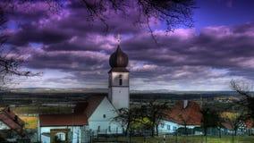 Église en Bavière Photographie stock