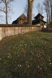 Église en bois évangélique images stock