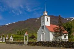 Église en bois blanche Photographie stock