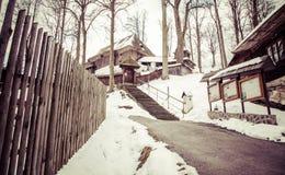 Église en bois chez Lestiny, Slovaquie Photos libres de droits