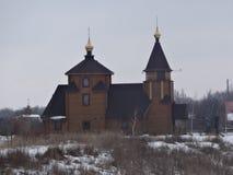 Église en bois dans Bahmut Photographie stock