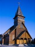 Église en bois dans Brasov Images libres de droits