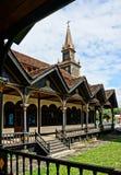 Église en bois de Kontum, cathédrale antique, héritage Images stock