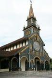 Église en bois de Kontum, cathédrale antique, héritage Photo libre de droits