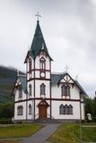 Église en bois en Islande Photographie stock libre de droits