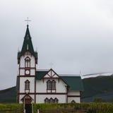 Église en bois, Islande Image stock